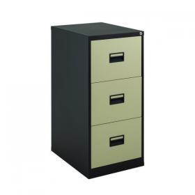 Talos 3 Drawer Filing Cabinet 465x620x1000mm Coffee Cream KF78767