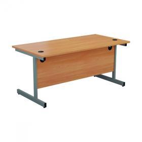 First Rectangular Cantilever Desk 1200x800x730mm Beech/Silver KF803317