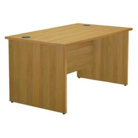 Jemini Oak 1200mm Panel End Rectangular Desk KF838085