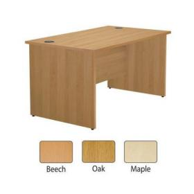 Jemini Beech 1600mm Panel End Rectangular Desk KF838087
