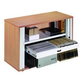 Arista Desk High Side Opening Tambour Beech KF838307