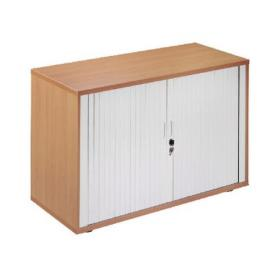 Arista Desk High Side Opening Tambour Oak KF838308