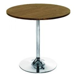Cheap Stationery Supply of Arista Walnut/Chrome 800mm Small Bistro Trumpet Table KF838318 Office Statationery