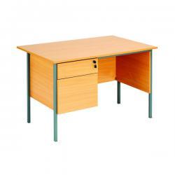Cheap Stationery Supply of Serrion Rectangular 2 Drawer Pedestal Desk 1200x750x730mm Beech KF838371 Office Statationery