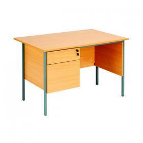 Serrion Rectangular 2 Drawer Pedestal Desk 1200x750x730mm Beech KF838371