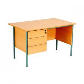 Serrion Rectangular 3 Drawer Pedestal Desk 1200x750x730mm Beech KF838373