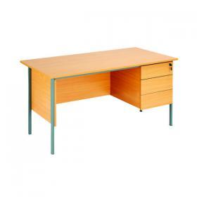 Serrion Rectangular 3 Drawer Pedestal Desk 1500x750x730mm Beech KF838377