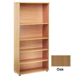 Jemini 4 Shelf Oak 2000mm Bookcase KF838419