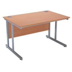 Cheap Stationery Supply of Serrion Bavarian Beech 1200mm Rectangular Cantilever Desk KF838514 Office Statationery