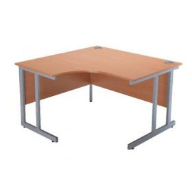 Serrion Bavarian Beech 1200mm Radial Left Hand Cantilever Desk KF838520