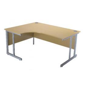 Serrion Ferrera Oak 1200mm Radial Left Hand Cantilever Desk KF838521
