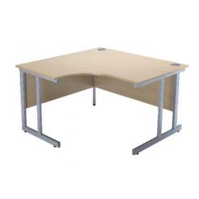 Serrion Warm Maple 1200mm Radial Left Hand Cantilever Desk KF838522