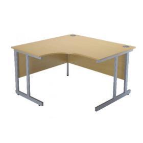 Serrion Ferrera Oak 1500mm Radial Left Hand Cantilever Desk KF838524