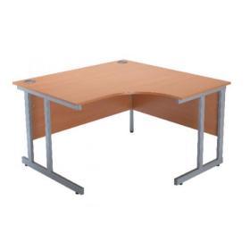 Serrion Bavarian Beech 1200mm Radial Right Hand Cantilever Desk KF838526