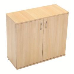 Cheap Stationery Supply of Serrion 800mm Ferrera Oak Desk High Cupboard KF838613 Office Statationery