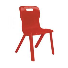 Titan One Piece Chair 350mm Red (Pack of 30) KF838733