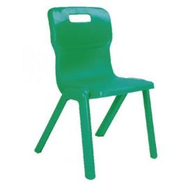 Titan One Piece Chair 350mm Green (Pack of 30) KF838735