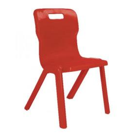 Titan One Piece Chair 350mm Red (Pack of 10) KF839132