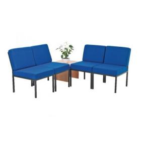 First Reception Modular Seating Blue and Coffee Table Light Oak KF839237