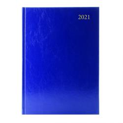 Cheap Stationery Supply of Desk Diary Day Per Page Appointments A4 Blue 2021 KFA41ABU21 Office Statationery