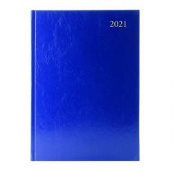 Cheap Stationery Supply of Desk Diary Day Per Page Appointments A5 Blue 2021 KFA51ABU21 Office Statationery