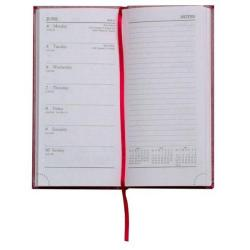 Cheap Stationery Supply of Condiary 2014 Diary Slim Week to View Portrait Notes Burgundy KFNBG14 Office Statationery