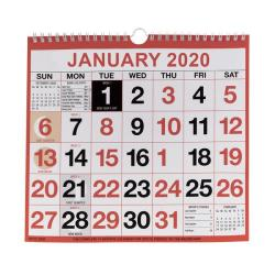 Cheap Stationery Supply of Wirebound Monthly Calendar 249 x 231mm 2020 KFYC2220 Office Statationery