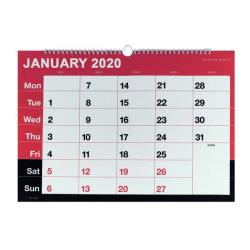 Cheap Stationery Supply of Wirebound Monthly Calendar A3 2020 KFYC2320 Office Statationery