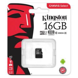 Cheap Stationery Supply of Kingston Canvas Select microSDHC 16GB (Class 10 UHS-I speeds of up to 80MB/s) SDCS/16GB Office Statationery