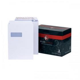 Plus Fabric Envelopes PEFC Pocket Peel & Seal Window 120gsm C4 324x229mm White Ref L23970 Pack of 250