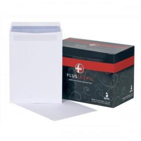 Plus Fabric Envelopes PEFC Pocket Self Seal 120gsm C4 324x229mm White Ref L26370 Pack of 250