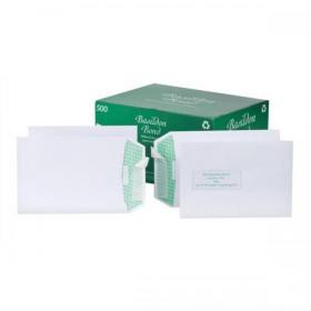 Basildon Bond Envelopes FSC Recycled Pocket Peel & Seal 120gm C5 White Ref L80118 Pack of 500