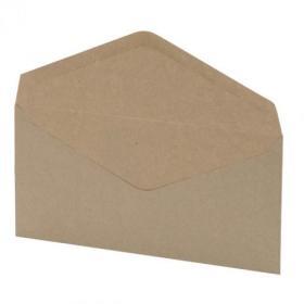 5 Star Office Envelopes FSC Wallet Recycled Lightweight Gummed Wdw 75gsm DL 220x110mm Manilla Pack of 1000