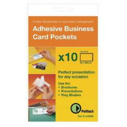 Cheap Stationery Supply of Pelltech Business Card Pockets Top Opening 95x60mm (Pack of 100) PLH10141 Office Statationery