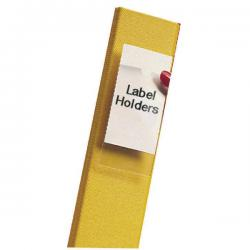 Cheap Stationery Supply of Pelltech Clear/White Label Holders 55x102mm (Pack of 6) 25330 Office Statationery