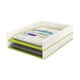 Leitz WOW Letter Tray Dual Colour White/Green 53611064