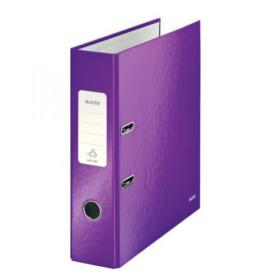 Leitz Wow 180 Lever Arch File 80mm A4 Purple (Pack of 10) 10050062