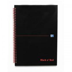 Cheap Stationery Supply of Black n Red Notebook Wirebound 90gsm Ruled Indexed A-Z 140pp A4 100080232 Pack of 5 Office Statationery