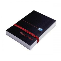 Cheap Stationery Supply of Black n Red Notebook Poly Casebound 90gsm Plain 192pg A7 100080540 Pack of 10 Office Statationery