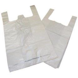 Cheap Stationery Supply of Carrier Bag Biodegradable White (Pack of 1000) MA21135 Office Statationery