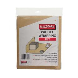 Cheap Stationery Supply of Flexocare Parcel Wrapping Kit Brown (Pack of 24) 9739PWeek01 Office Statationery