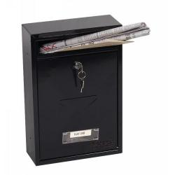 Cheap Stationery Supply of Phoenix Letra Front Loading Mail Box MB0116KB in Black with Key Lock Office Statationery