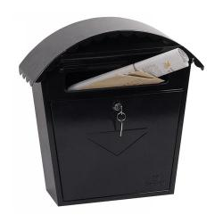 Cheap Stationery Supply of Phoenix Clasico Front Loading Mail Box MB0117KB in Black with Key Lock Office Statationery