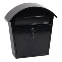 Cheap Stationery Supply of Clasico Black - Steel Post Box Office Statationery