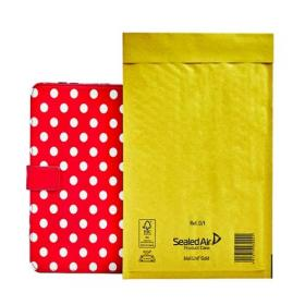Mail Lite Bubble Lined Postal Bag Size D/1 180x260mm Gold (Pack of 100) MLGD/1