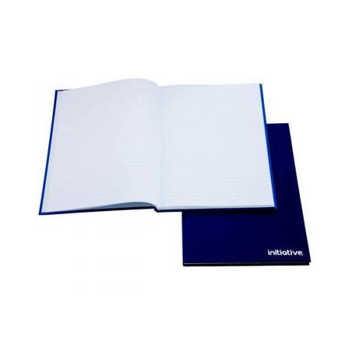INITIATIVE BLUE HARDBACK MANUSCRIPT BOOK FEINT RULED A5 BLUE
