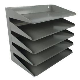 Avery Steel Letter Rack 5 Tier Grey 605