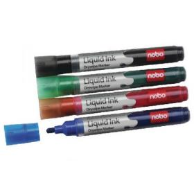 Nobo Liquid Ink Drywipe Marker Assorted (Pack of 6) 1901077