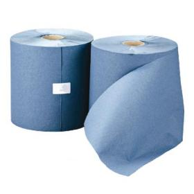Leonardo 1-Ply Hand Towel Roll Blue (Pack of 6) RTB200DS