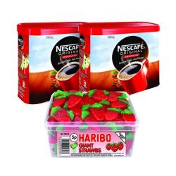 Cheap Stationery Supply of Nescafe Original Instant Coffee 750g (Pack of 2) Plus FOC Haribo Giant Strawbs NL819852 Office Statationery